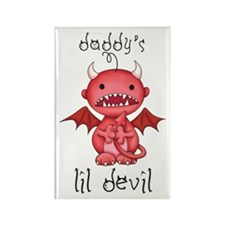 Daddy's Lil Boy Devil Rectangle Magnet
