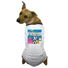 1st Birthday Party Animals Dog T-Shirt