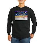 XmasSunrise/Tibet Ter Long Sleeve Dark T-Shirt