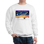 XmasSunrise/Yorkie #9 Sweatshirt