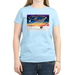 XmasSunrise/Yorkie #9 Women's Light T-Shirt