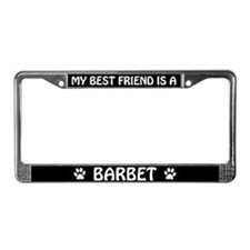 My Best Friend is a Barbet License Plate Frame