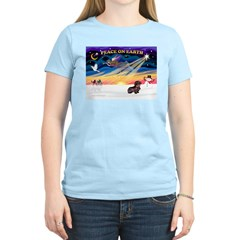 XmasSunrise/WH Dachshund Women's Light T-Shirt