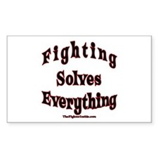 Fighting Solves Everything Rectangle Decal