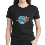 Retro Aeroplane Jet Plane Women's Dark T-Shirt
