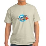 Retro Aeroplane Jet Plane Light T-Shirt