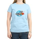 Retro Aeroplane Jet Plane Women's Light T-Shirt