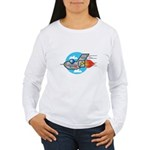 Retro Aeroplane Jet Plane Women's Long Sleeve T-Sh