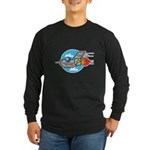 Retro Aeroplane Jet Plane Long Sleeve Dark T-Shirt