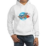 Retro Aeroplane Jet Plane Hooded Sweatshirt