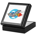 Retro Aeroplane Jet Plane Keepsake Box