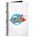 Retro Aeroplane Jet Plane Journal