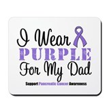 I Wear Purple (Dad) Mousepad