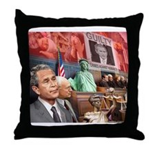 Bush Trial Throw Pillow