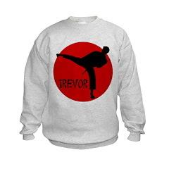 Trevor Martial Arts Kids Sweatshirt
