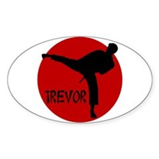 Trevor Martial Arts Oval Decal
