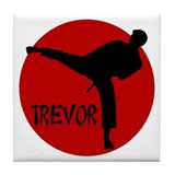 Trevor Martial Arts Tile Coaster