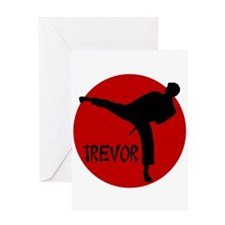 Trevor Martial Arts Greeting Card