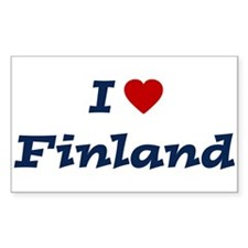 I HEART FINLAND Rectangle Decal