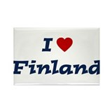 I HEART FINLAND Rectangle Magnet