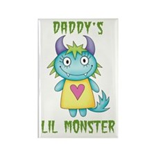 Daddy's Lil Monster Rectangle Magnet