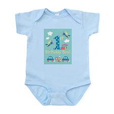 1st Birthday - Planes, Trains, & Cars Infant Bodys