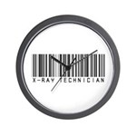 X-Ray Tech Barcode Wall Clock