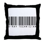 X-Ray Tech Barcode Throw Pillow