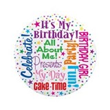 "It's My Birthday 3.5"" Button (100 pack)"