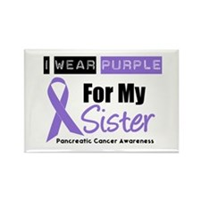 I Wear Purple For My Sister Rectangle Magnet
