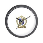 RODRIGUE Family Crest Wall Clock