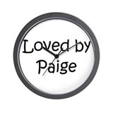 Cool Paige Wall Clock