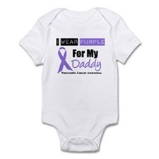 I Wear Purple For My Daddy Infant Bodysuit