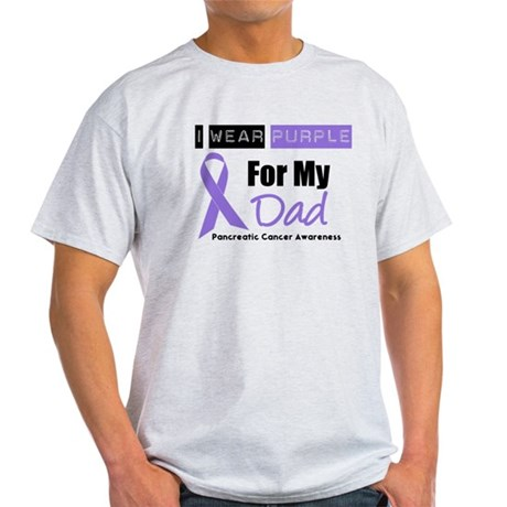 I Wear Purple For My Dad Light T-Shirt
