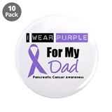 "I Wear Purple For My Dad 3.5"" Button (10 pack)"