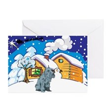Log Cabin Schnauzer Greeting Cards (Pk of 20)