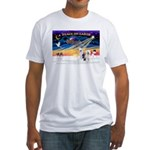 XmasSunrise/ 2 OES Fitted T-Shirt