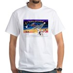 XmasSunrise/ 2 OES White T-Shirt