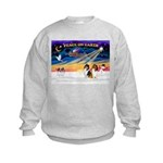 XmasSunrise/2 Collies Kids Sweatshirt