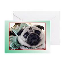 Green Annie Christmas Greeting Card