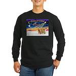 XmasSunrise/3 Goldens Long Sleeve Dark T-Shirt