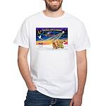 XmasSunrise/3 Goldens White T-Shirt