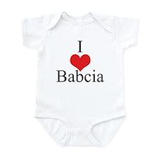 I Love (Heart) Babcia Infant Bodysuit