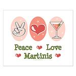 Peace Love Martini Small Poster