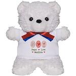 Peace Love Martini Teddy Bear