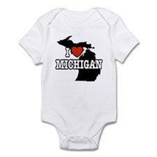 I Love Michigan Infant Creeper