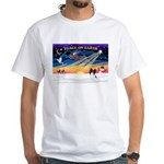 XmasSunrise/Papillon #1 White T-Shirt