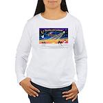 XmasSunrise/Papillon #1 Women's Long Sleeve T-Shir