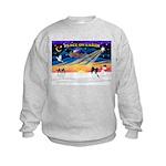 XmasSunrise/Papillon #1 Kids Sweatshirt