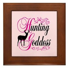 Hunting Goddess Framed Tile